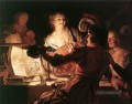 The Prodigal Son 1623 nighttime candlelit Gerard van Honthorst