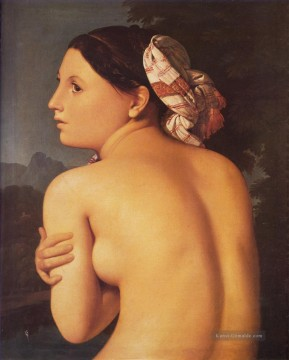 Half figure of a Bather Nacktheit Jean Auguste Dominique Ingres