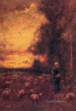Day Kunst - End of Day Montclair Tonalist George Inness