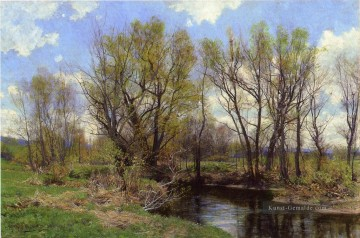 Set Ölgemälde - Vorfrühling in der Nähe von Sheffield Massachusetts Szenerie Hugh Bolton Jones