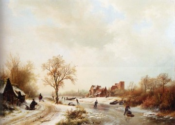 Winter Galerie - Winter Landschape Niederlande Barend Cornelis Koekkoek