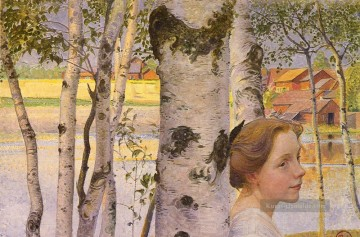 Swedish 1853to 1919 Lisbeth At The Birch SnD 1910 Carl Larsson