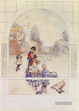 Schwedisch 1853to 1919 Mein Loved nes SnD Sundborn 1893water Carl Larsson