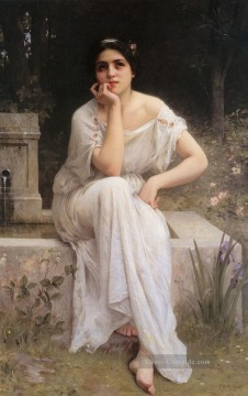 Charles Galerie - Meditation 1899 realistische Porträts Mädchen Charles Amable Lenoir