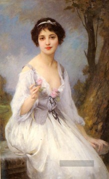Charles Galerie - Die rosa Rose realistische porträts Mädchen Charles Amable Lenoir