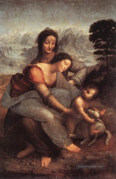Leonardo da Vinci Gemälde - The Virgin and Child with St Anne Leonardo da Vinci