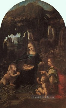 Leonardo da Vinci Gemälde - Virgin of the Rocks paris Leonardo da Vinci