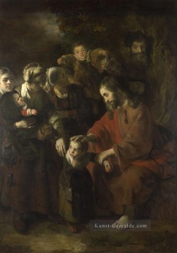 Christ Blessing the Children Barock Nicolaes Maes Ölgemälde