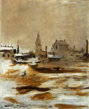 Édouard Manet Werke - Effect of Snow at Petit Montrouge Eduard Manet