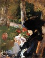 Mutter im Garten Bellevue Eduard Manet