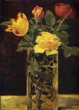 Édouard Manet Werke - Rose and tulip Eduard Manet