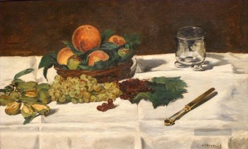 Édouard Manet Werke - Still Life Fruits on a Table Eduard Manet