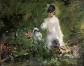 Young woman among the Blumen Eduard Manet