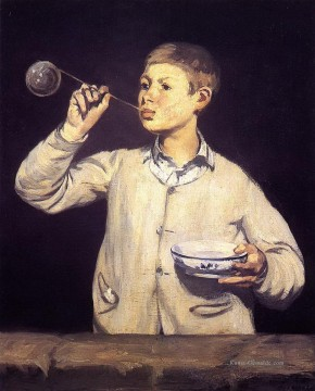 Boy Blowing Bubbles Eduard Manet Ölgemälde