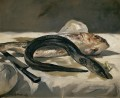 Eel and Red Mullet Eduard Manet