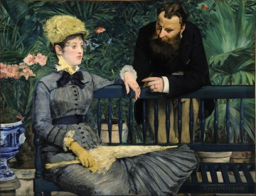 Édouard Manet Werke - In the Conservatory Study of and Mme Jules Guillemet Realismus Impressionismus Edouard Manet