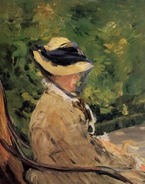 Édouard Manet Werke - Madame Manet at Bellevue Eduard Manet
