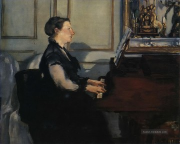 Édouard Manet Werke - Madame Manet at the Piano Eduard Manet