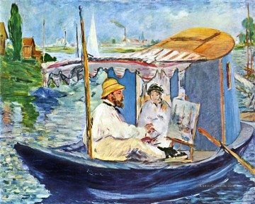 Édouard Manet Werke - Monet in seinem Studio Boot 2 Eduard Manet