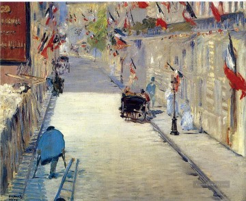 Édouard Manet Werke - Rue Mosnier decorated with Flags Eduard Manet