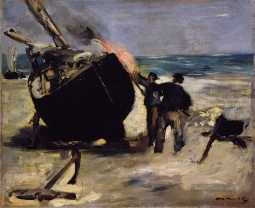 Édouard Manet Werke - Tarring the Boat Eduard Manet