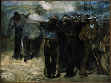 Édouard Manet Werke - The Execution of Emperor Maximilian draft Eduard Manet