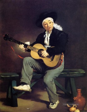 Édouard Manet Werke - The Spanish Singer The Guitar Player Realismus Impressionismus Edouard Manet