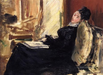 Édouard Manet Werke - Young woman with a book Eduard Manet