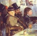 At the Cafe Eduard Manet