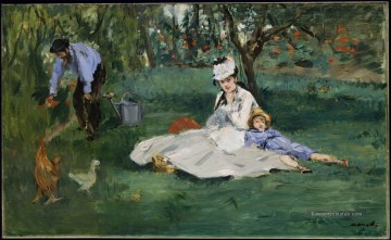 Édouard Manet Werke - The Monet family in their garden at Argenteuil Eduard Manet