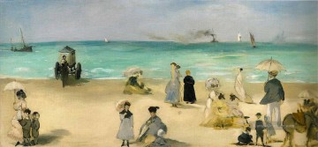 Édouard Manet Werke - On the Strand at Boulogne Realismus Impressionismus Edouard Manet