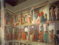 Frescoes in the Cappella Brancacci right view Christentum Quattrocento Renaissance Masaccio