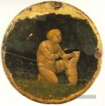 Putto and a Small hund back side of the Berlin Tondo Christentum Quattrocento Renaissance Masaccio