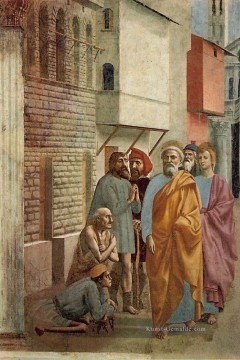 St Peter Healing the Sick with His Shadow Christentum Quattrocento Renaissance Masaccio Ölgemälde