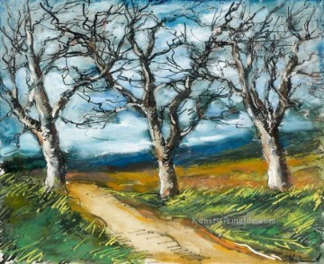Trail Kunst - TREES AT THE EDGE OF A TRAIL Maurice de Vlaminck