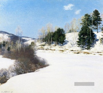 Winter Galerie - Hush von Winter Szenerie Willard Leroy Metcalf