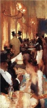 Au Cafe Willard Leroy Metcalf