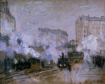 Claude Monet Werke - Exterior of the Saint Lazare Station Arrival of a Train Claude Monet