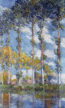 Poplars Claude Monet