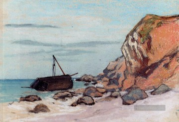 Claude Monet Gemälde - SaintAdresse Beached Sailboat Claude Monetcirca