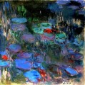 Seerose Reflections of Weeping Willows right half Claude Monet