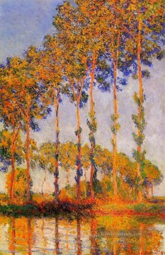 Claude Monet Gemälde - A Row of Poplars Claude Monet