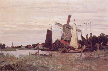 Claude Monet Werke - A Windmill at Zaandam Claude Monet