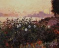 Argenteuil Blumen am Flussufer Claude Monet