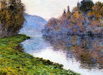 Claude Monet Werke - Banks of the Seine at Jenfosse Clear Weather Claude Monet