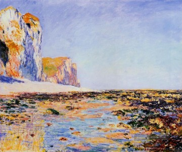 Strand and Cliffs at Pourville Morning Effect Claude Monet