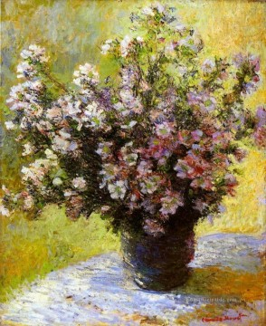 Bouquet von Mallows Claude Monet Ölgemälde