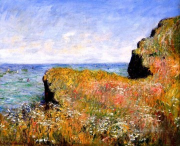 Claude Monet Werke - Edge of the Cliff at Pourville Claude Monet