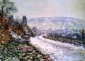 Entering the Village of Vetheuil in Winter Claude Monet