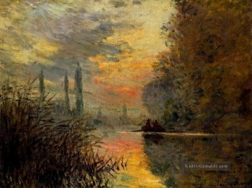 Claude Monet Gemälde - Evening at Argenteuil Claude Monet